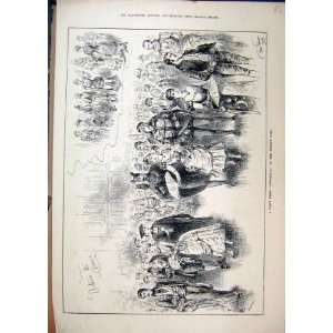 1886 Fancy Dress Cinderella Princes Hall Dancing Print: Home & Kitchen