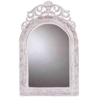 31586 arched top wall mirror wood framed vintage look mirror