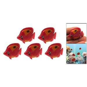 Beautiful Red Plastic Fish Water Tank Aquarium Decor Home & Kitchen