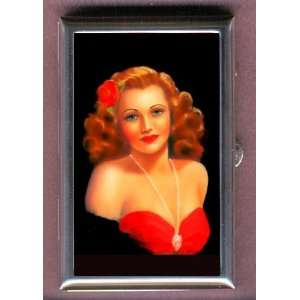 PIN UP GLAMOUR LOVELY WOMAN Coin, Mint or Pill Box Made
