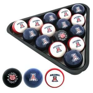 Arizona Wildcats Officially Licensed NCAA Billiard Balls by Frenzy