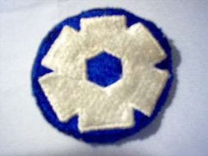 Original WWII US Army 6th Service Command Patch