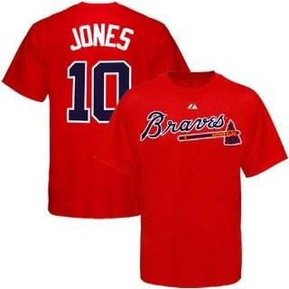 Chipper Jones Atlanta Braves Big & Tall Name & Number Tee