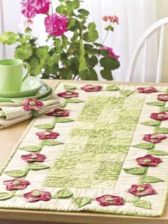 Patchwork Table Runners Quilting Patterns Book Flowers
