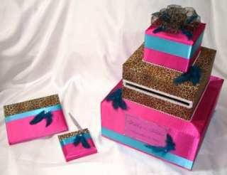 ELEGANT CUSTOM MADE WEDDING CARD BOX GUEST BOOK/PEN SET