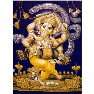 God Ganesh Rayon Tapestry: Home & Kitchen