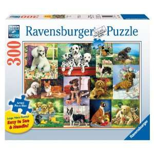 Puppy Collage   300 Pieces Large Format Puzzle Toys & Games