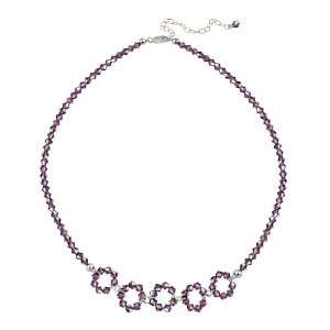 and Light Purple Swarovski Crystallized Elements 5 Open Circle Frontal
