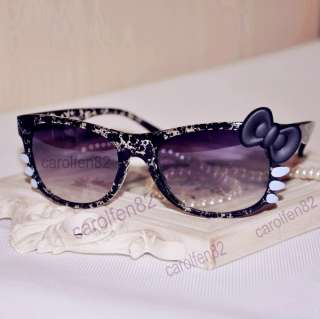 Kitty Bow Style Sunglasses Costume + Free Gift Box For Womens Girl