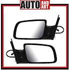 New Pair Set Power Side Mirror Glass Housing Assembly Chevy GMC Pickup