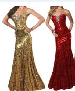 Sparkle Sequin Wedding Evening Formal Clubwear Prom Dress 3Sz