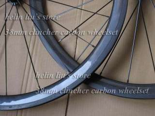 carbon bike wheelset 38mm clincher carbon bicycle wheel