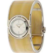FOSSIL LADIES LUCY HORN ACRYLIC BANGLE WATCH NEW ES2485