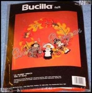 Bucilla LIL' PILGRIM & Native American Wreath Thanksgiving Felt Kit