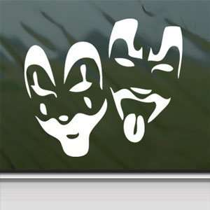 Insane Clown Posse ICP Faces White Sticker Laptop Vinyl