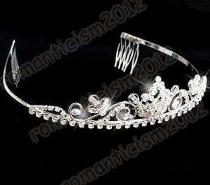 FREE Wedding/Bridal swarovski crystal veil tiara comb