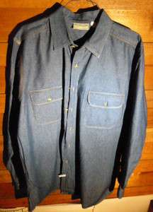 BOULDER CREEK TRADING CO MENS DENIM SHIRT   BLUE   SIZE XL