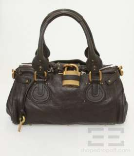 Chloe Chocolate Brown Leather Paddington Medium Satchel Bag