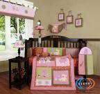 Boutique Baby Girl Teddy Bear 13PCS CRIB BEDDING SET