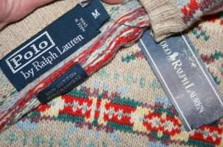 Mens Polo RALPH LAUREN Fair Isle Wool Cashmere Sweater Medium M
