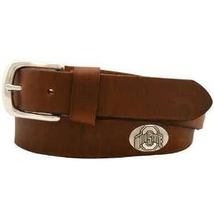 NCAA Ohio State Buckeyes Brown Leather Coaches Belt