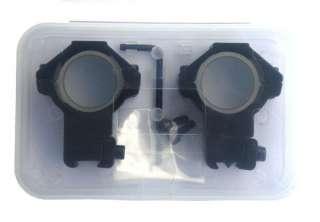 High Scope Mounts 30mm Rings for 11mm Dovetail Rail Black