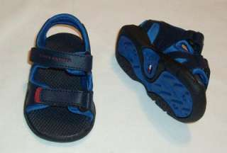 TOMMY HILFIGER BABY BOYS LEATHER SHOES SANDALS 2 M NWB