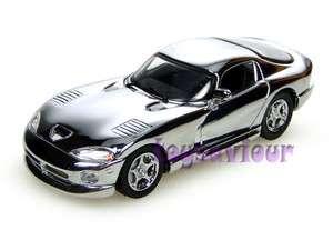 UH Universal Hobbies 143 Diecast Car Dodge Viper GTS Chrome