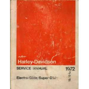 Service Manual, Part No. 99482 72 Harley Davidson Motor Co. Books