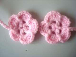 Baby Infant Crochet Beanie flower Hat cute girl lace cap 0 6 months