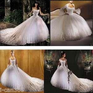 White/Ivory Bridal Wedding Dress Prom Gown size 6 8 10 12 14 16