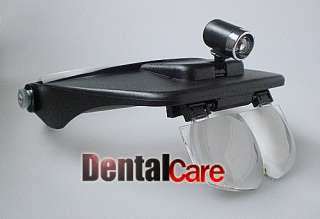 Dental Lab Magnifying Head Loupe Magnifer 4 Lens&Light