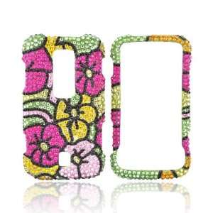 PINK YELLOW FLOWER Bling Case for Huawei Ascend M860 Electronics