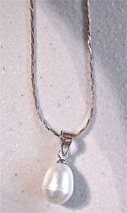 teardrop tear drop silver 18 Necklace New FREE USA SHIPPING