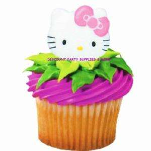 Hello Kitty Cupcake Rings Party Favors Decorations