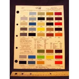 Skylark, Appollo, Skyhawk & OPEL GT Paint Colors Chip Page General