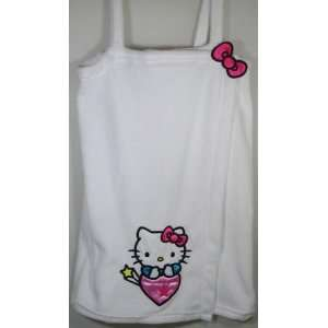 Hello Kitty Plush Spa Wrap Bath Robe (White) Size Large