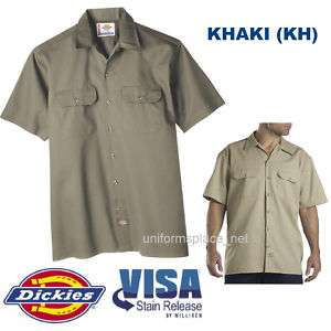 Dickies Mens SHORT SLEEVE Work Shirt Nwt S   6XL KHAKI