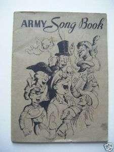 Original 1941 US Army Song Book