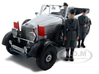 1938 MERCEDES G4 WITH 3 FIGURES WHITE 118 MODEL CAR
