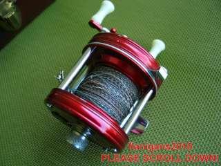 VERY NICE! VINTAGE RED ABU GARCIA AMBASSAD 5000 FISHING REEL & case