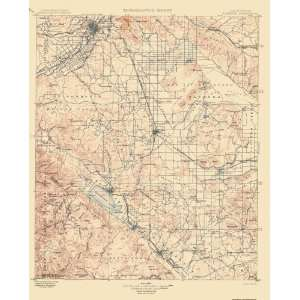 USGS TOPO MAP ELSINORE QUAD CALIFORNIA (CA) 1901: Home & Kitchen