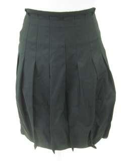 BCBG MAX AZRIA Black Pleated Bubble Skirt Sz 4