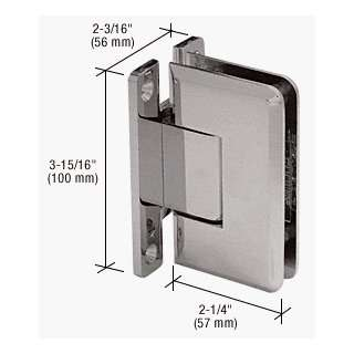 com CRL Brushed Nickel Cologne 537 Series Wall Mount Full Back Plate