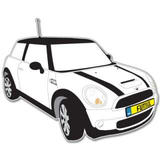 Mini Cooper S car bumper sticker decal 4 x 5