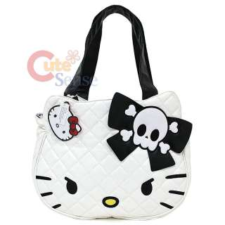 Sanrio Hello Kitty Angry Kitty Quilted Face Hand Bag Loungefly