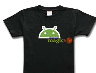 Android Logo Google Phone OS Geek T Shirt SMART BRAIN