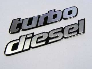 CHEVROLET SILVERADO DURAMAX TURBO DIESEL ENGINE EMBLEMS