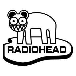 RADIOHEAD ANIMAL BAND WHITE LOGO VINYL DECAL STICKER