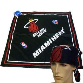 NBA MIAMI HEAT BASKETBALL FANDANA BANDANA SCARF BLACK RED WHITE UNISEX